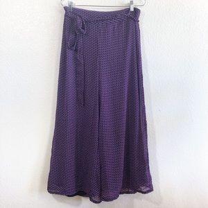 Pants - Purple wide leg pants